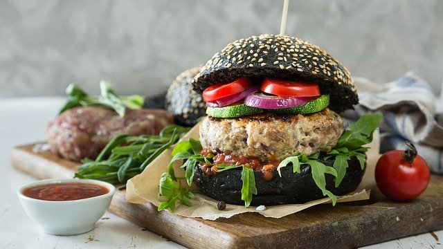 Menu hamburger vegan